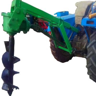 挖坑机/微耕机 拖拉机式挖坑机 定做电线杆钻地挖坑机