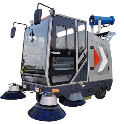 小型驾驶式道路清扫车 学校物业多功能电瓶吸尘扫地车