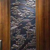 酒店餐厅定制款仿古铜铝板雕刻挂件 量大背景墙设计工程