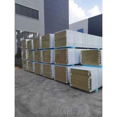 宿迁工厂出售 75*800mm聚氨酯岩棉墙面夹芯板