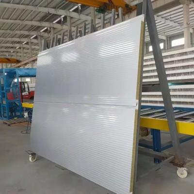盐城厂家出售 水波纹保温聚氨酯岩棉夹芯板